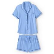 Lands' End Kurzes Pyjama-Set aus Modal in großen Größen - Blau - 56-58 von Lands' End