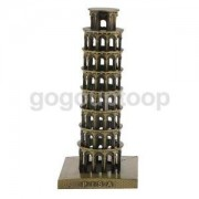 Alcoa Prime Leaning Tower of Pisa Model Imitation Metal Decor Crafts Furnishing Articles