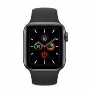 Apple Watch Series 5 GPS 44mm Cinzento Sideral com Bracelete Desportiva Preta