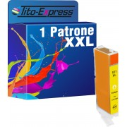 Tito-Express PlatinumSerie PlatinumSerie® 1x inktcartridge XXL voor Canon CLI-551XL Yellow Canon Pixma IP7250 MG5450 MG6350 MX725 MX925