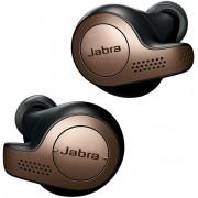 Casti Stereo Jabra Elite 65t, Bluetooth, Microfon (Negru/Maro)