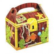 Tigers on The Loose Themed Party Box - Pirate's Treasure Chest, Pack of 10