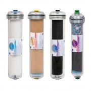 Set 4 filtre de schimb cu carcasa transparenta