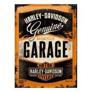 Geen Muurplaat Harley Davidson garage 30 x 40 cm