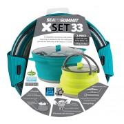 Sea To Summit X-Set: 33 3pc (X-Pot 2.8L, X-Pot Kettle 1.3L) - - Pots & Casseroles