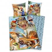 Home24 Renforcé beddengoed Dinosaur, home24 - Meerkleurig