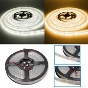 Meco 5M 120W DC12V Double Row 3528 SMD 1200 LED White/Warm White Waterproof Flexible Strip light