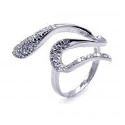 Amazing Jewelry zilveren ring met heldere zirkonia's