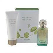 Hermes Un Jardin Sur Le Nil 50ml Apă De Toaletă + 75ml Loțiune de corp Travel Set