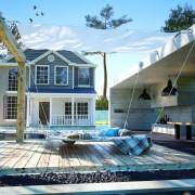 vidaXL vidaXL Set pânză parasolar terasă, textil oxford, 140x270 cm