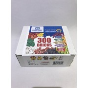 300 Bricks - Toy Building Blocks - Mixed Colors - Compatible - Great Creative Box from Brick Loot