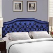 Cabeceira Estofada Madri Azul Marinho com Capitonê para Cama Box King 2.00m - Pethiflex