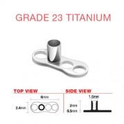Dermal anchor titanium 3 gaats