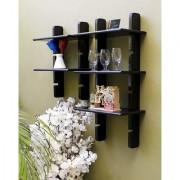 Onlineshoppee Escalera Wall Shelf 2 Pcs Black