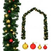 Sonata Коледен гирлянд, декориран с топки и LED лампички, 20 м