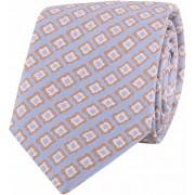 Profuomo Krawatte Blau Camel - Beige