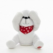 "Kurt Adler BATTERY OPERATED PEEK-A-BOO BEAR WITH MOVEMENT AND SOUND - USES 3 ""AAA"" BATTERIES (INCLUDED)"