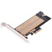 Adaptor Silverstone ECM22 de la port M.2 la PCI Express x4 / SATA 6Gbps