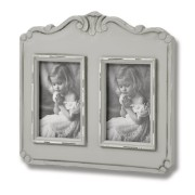 Fleur Grey 2 Picture 4 x 6 Photo Frames