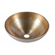 MURANO SOFT BROWN üvegmosdó 40x13cm, világos barna (AL5318-67)