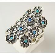 Inel argint opal R9196-1 (MASURI IN STOC ⤵: 55 mm circumferinta sau 17,5 mm diametru interior, Piatra: opal imperial, Categorie: inele)