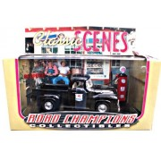Road Champions Collectibles - Limited Edition Classic Scenes (1 of 10,000) - The Mobil Truck (Black with 'Mobilgas...