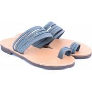 Sandale de dama cu talpa joasa FUNKY MOON gri - marime 38