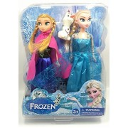 NewFun Frozen Dolls Princess Anna and Elsa With Olaf