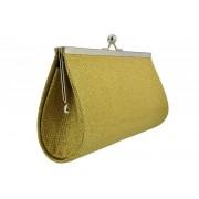 GLORIUSS Torebka kopertówka złota wieczorowa mieniąca - Złoty