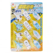 Magideal Police Car Plane Ship Land sea and air defense of team toys 12pcs/set