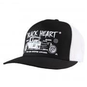 BLACK HEART baseball sapka - HOT ROD CROSS - FEHÉR - BH169