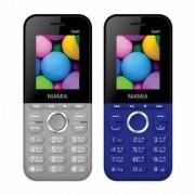 Niamia CAD 1 Basic Keypad Feature Mobile Phone Combo (Grey / Blue)