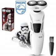 Afeitadora eléctrica de doble hoja para hombre PHILIPS XZ580/04 serie Star Wars Stormtrooper versión para lavado de cuerpo multifuncional recargable(Plata)