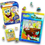 Nickelodeon Spongebob No Mess Coloring Set for Toddlers Kids -- Mess Free Coloring Book with Magic Pen, Storybook and Over 100 Spongebob Stickers (No Mess Art)