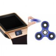 Zemini DZ09 Smart Watch and Fidget Spinner for LG OPTIMUS L9.(DZ09 Smart Watch With 4G Sim Card Memory Card| Fidget Spinner)