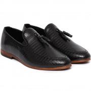 Pantofi barbati Todd cu imprimeu piele de sarpe, Negru 42