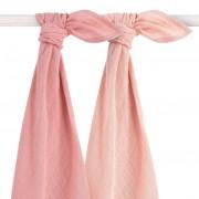 Jollein Hydrophilic Multifunctional Cloth 2 pcs 115x115 cm Pale Pink