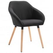 vidaXL Трапезен стол, черен, плат