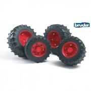 Bruder doppie ruote gemelle cerchione rosso premium-pro 03313