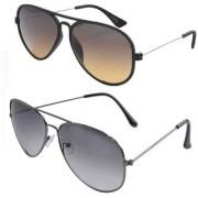Magjons Aviator Sunglasses Combo Set of 2 With box MJ7726