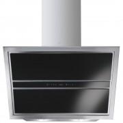 Hota decorativa Smeg Linea KCV9NE, 90 cm, 734 m3/h, sticla neagra/inox
