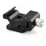 Ajustable Holder de aleacion de aluminio adaptador de montaje para Flash - Negro
