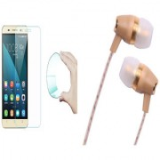 Oppo F1 Plus 9H HD Curved Edge Flexible Tempered Glass with Fragrant Metal Stereo Earphones with Mic