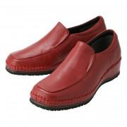 ドルチェ 牛革両サイド隠しゴム袋縫いシューズ【QVC】40代・50代レディースファッション