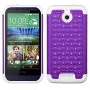 Funda Protector HTC One Desire 510 512 Mixto Blanco Morado Brillitos