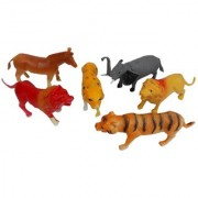 Jungle Animal Toys Figure Playing Set for Kids Pack of 6