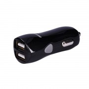 SOLIGHT USB nabíjecí autoadaptér, 2x USB, 3100mA max., DC 12-24V, černý