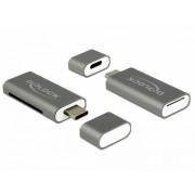 Cititor de carduri USB tip C 3.1 la SDHC / MMC + Micro SD, Delock 91742