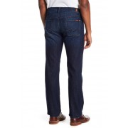7 For All Mankind Standard Straight Leg Jeans LA DARK