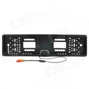 camara retrovisor del marco de la licencia del vehiculo 2.4G CMOS PAL inalambrico para el coche europeo - negro